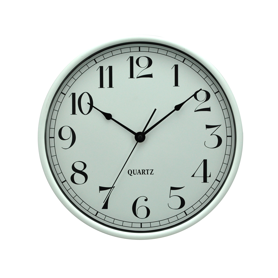 White Plastic Wall Clock 6911D-B