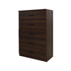 Walnut 5 Chest Of Drawer