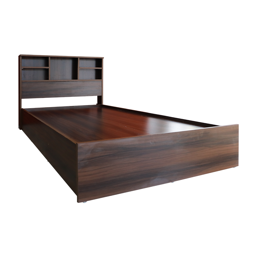 Walnut Double Bed 54x75""