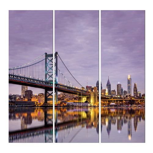 Xc84505#190521 San Francisco Bridge S/3 Canvas Wall Frame 30x90cm