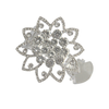 XX Curtain Clip Diamond Silver By Pair