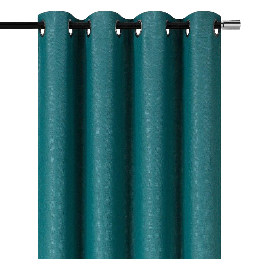 YW-PA-132 Blue-Green Grommet Blockout Curtain