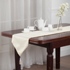 YW-PA-521 Jacquard Table Runner with Faux Silk Backing & Tassles 13x72""