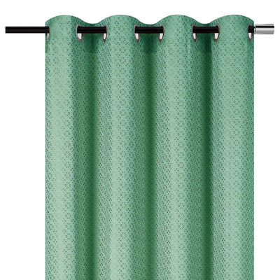 "YW-PA-7010 Blue-Green Grommet Curtain 54""x85"""