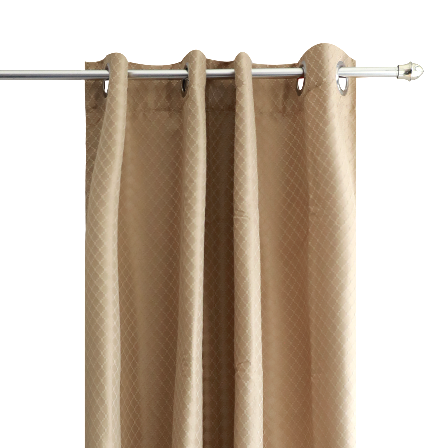YW-PA-7039 Beige grommet curtains 54x72""