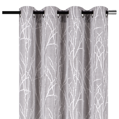 "YW-PA-7169 Gray Branches Grommet 54""x85"""