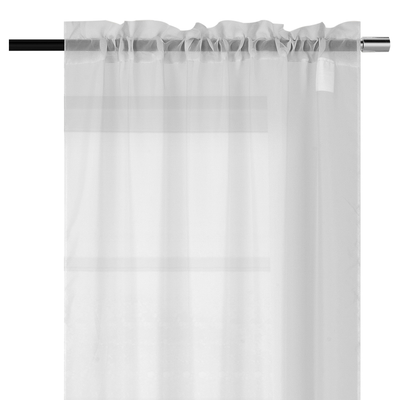 YW-PA-7172 White Voile Rod Pocket 54x72""