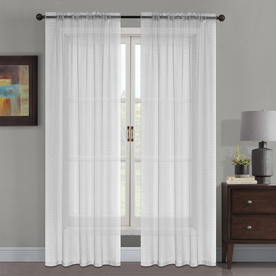 YW-S19334 Striped Grey Sheer 54x85""