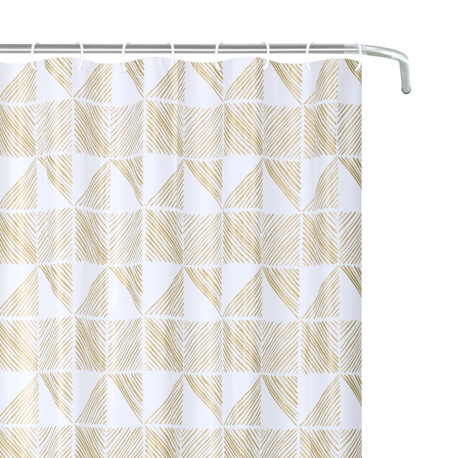 YW-SC-401 Peva Shower Curtain - Golden Tri
