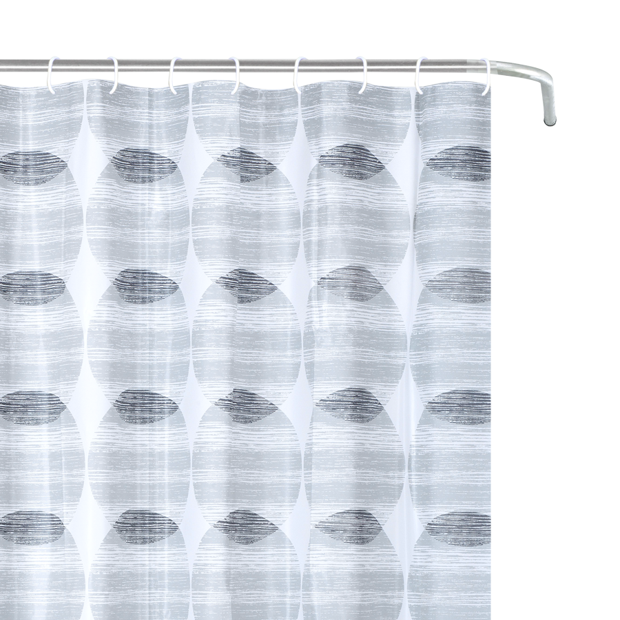 YW-SC-403 Peva Shower Curtain - Gray