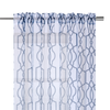 YW-VL06 Blue Persian Pattern Voile 54 X 95""
