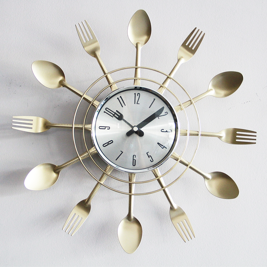 Ygz5389 Spoon & Fork Wall Clock 38cm
