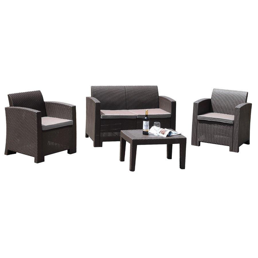 Kelly 4pc Plastic Outdoor Sofa Set
