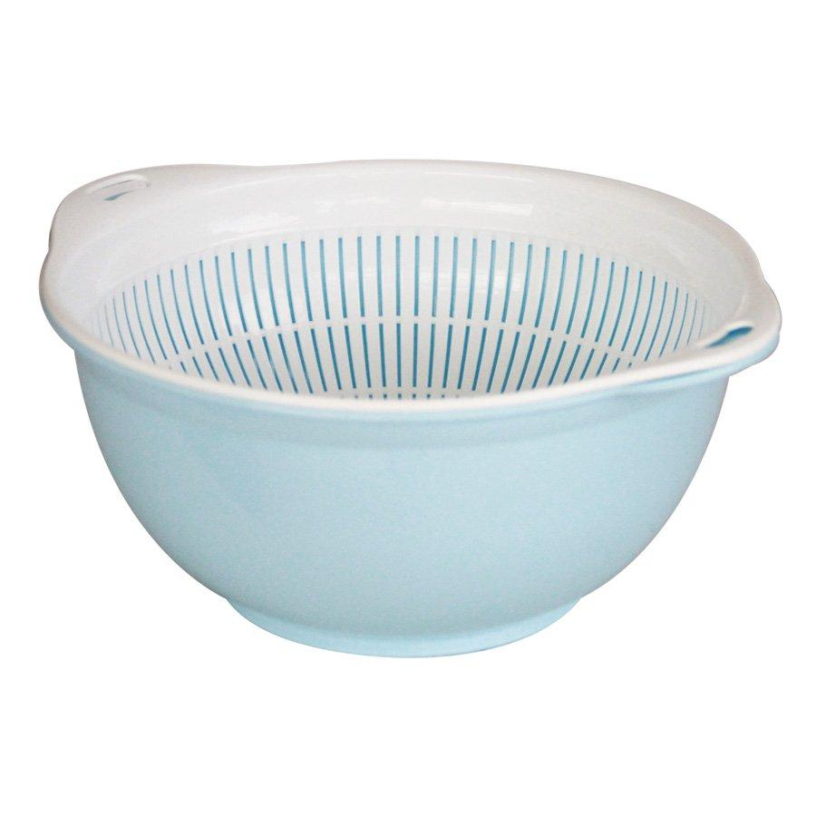 1075 2 Layer Sieve 25 x 13 x 12cm- Blue+ White