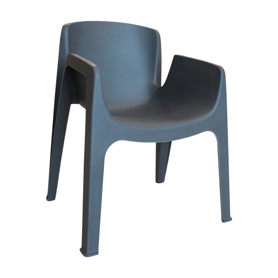 HXTC-863 Dark Grey Chair with Armrest