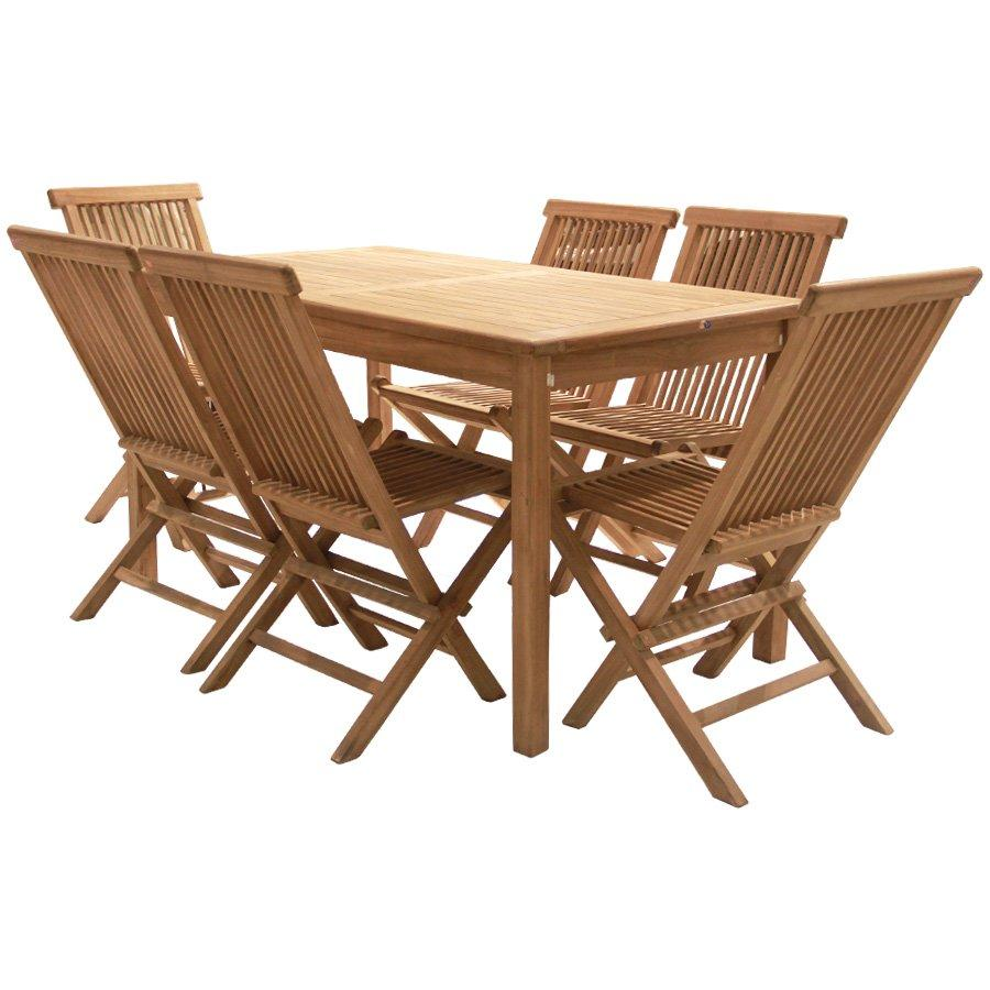 Sheri Teakwood Outdoor 6 Seater Dining Set