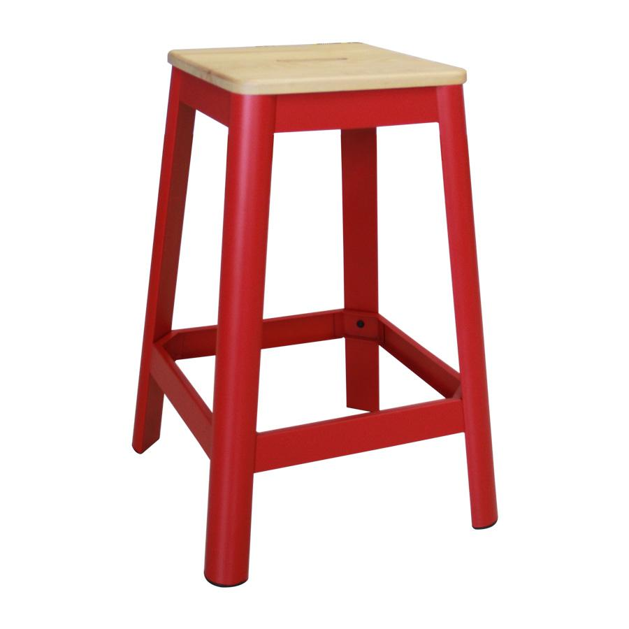 M94148-26-25 French Metal Barstool - Red