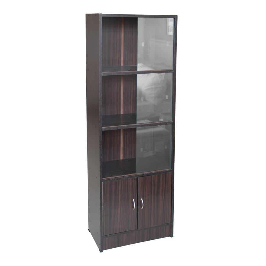 BC70045 Bookcase with Sliding Glass