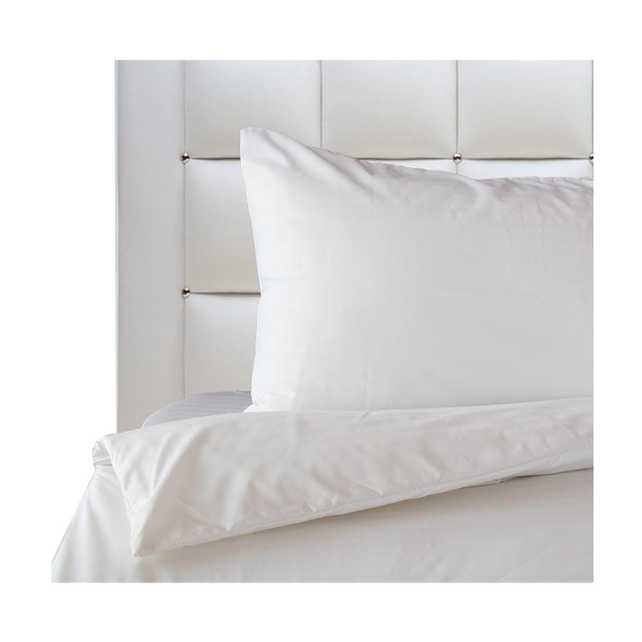 M-1  Linen Plain White Bedding Set