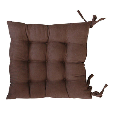 ST-01 Brown seat pad tufted suede40x40cm