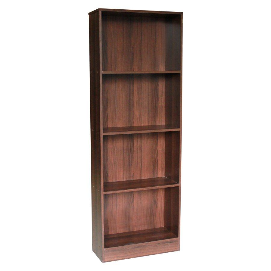 Toby 4 Shelves Bookcase - Brown