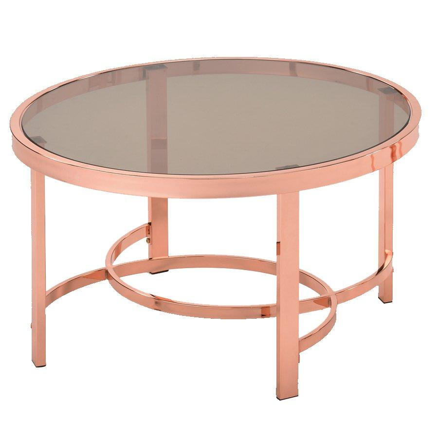 Chanel Coffee Table- Rosegold + Glass