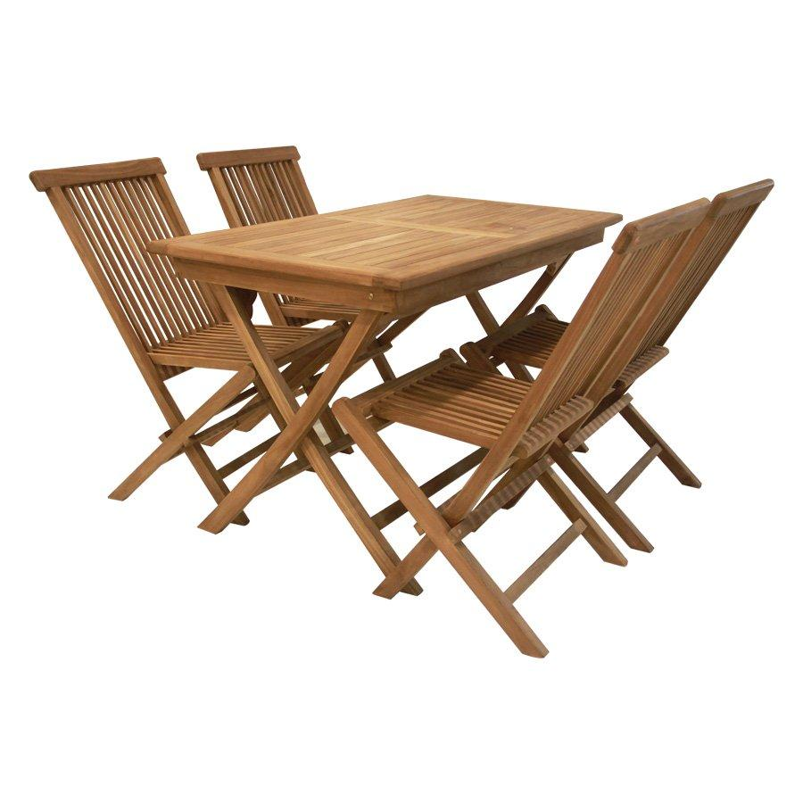 Trevor Teakwood Outdoor 4 Seater Dining Set