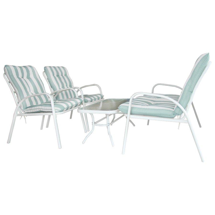 Rily Outdoor Sofa Set - Stripe Green