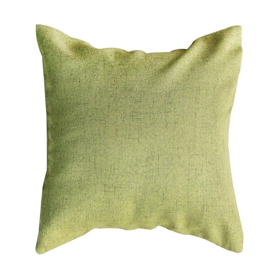 R0040-C2138 Green linen look throw pillow case only 43x43cm