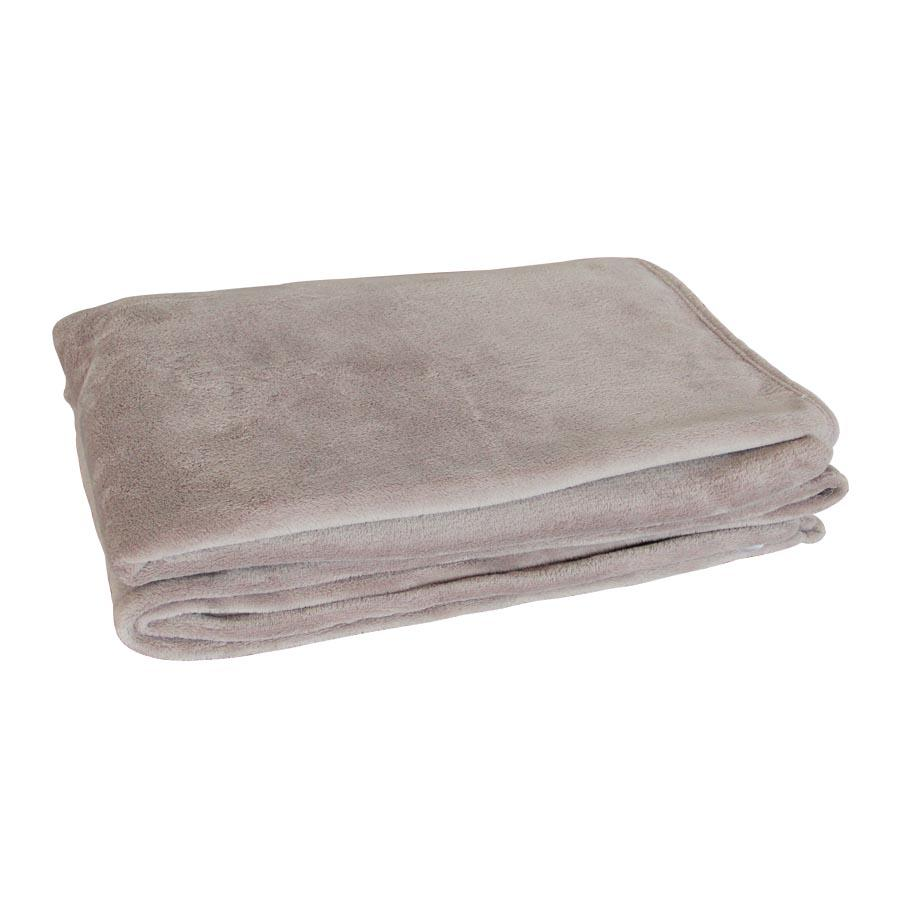 SHL01S/1342 Taupe Coral Fleece Blanket