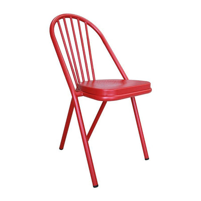 M-74552 Vienna Metal Chair - Frosted Red