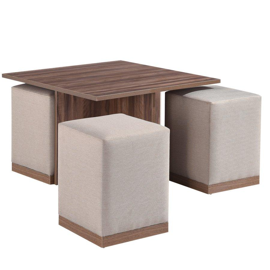 Coffee Table With Stools.Shawn Coffee Table W 4 Stools