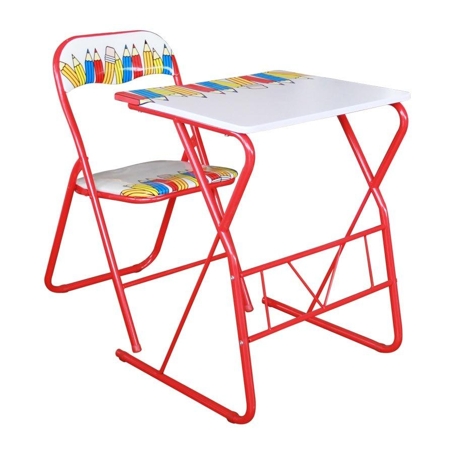 ST25779+SC98004V Pencil Print Student Desk