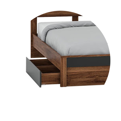 Jamie King Bed with Drawer 72x75""