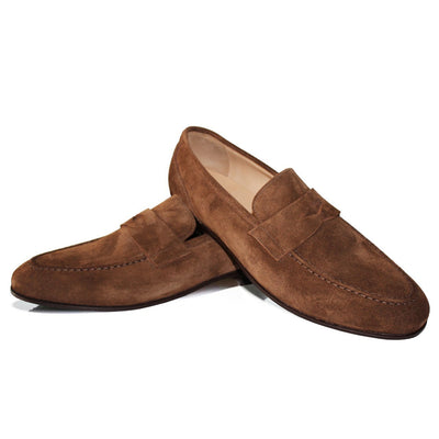 Dunkelbrauner Loafer – Rahmengenäht – Made in Italy
