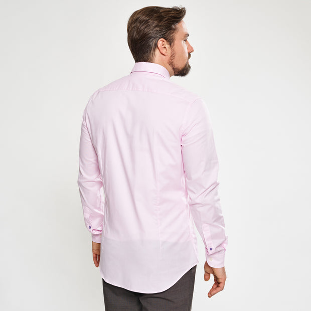 Rosé Slim Fit Casual Profi-Hemd
