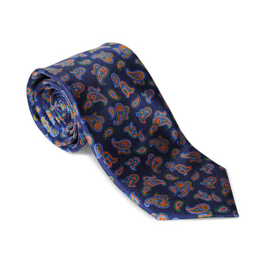 "Krawatte ""Paisley Navyblau"" – Made in Germany"