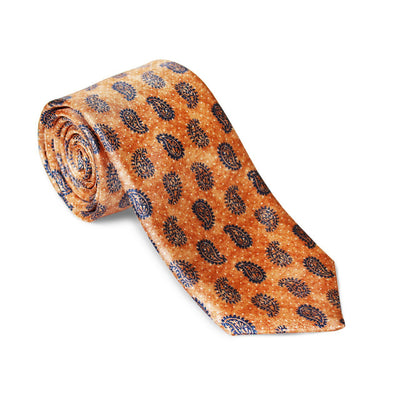 "Krawatte ""Paisley Orange"" – Made in Germany"