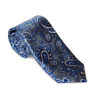 "Krawatte ""Paisley Blau"" – Made in Germany"