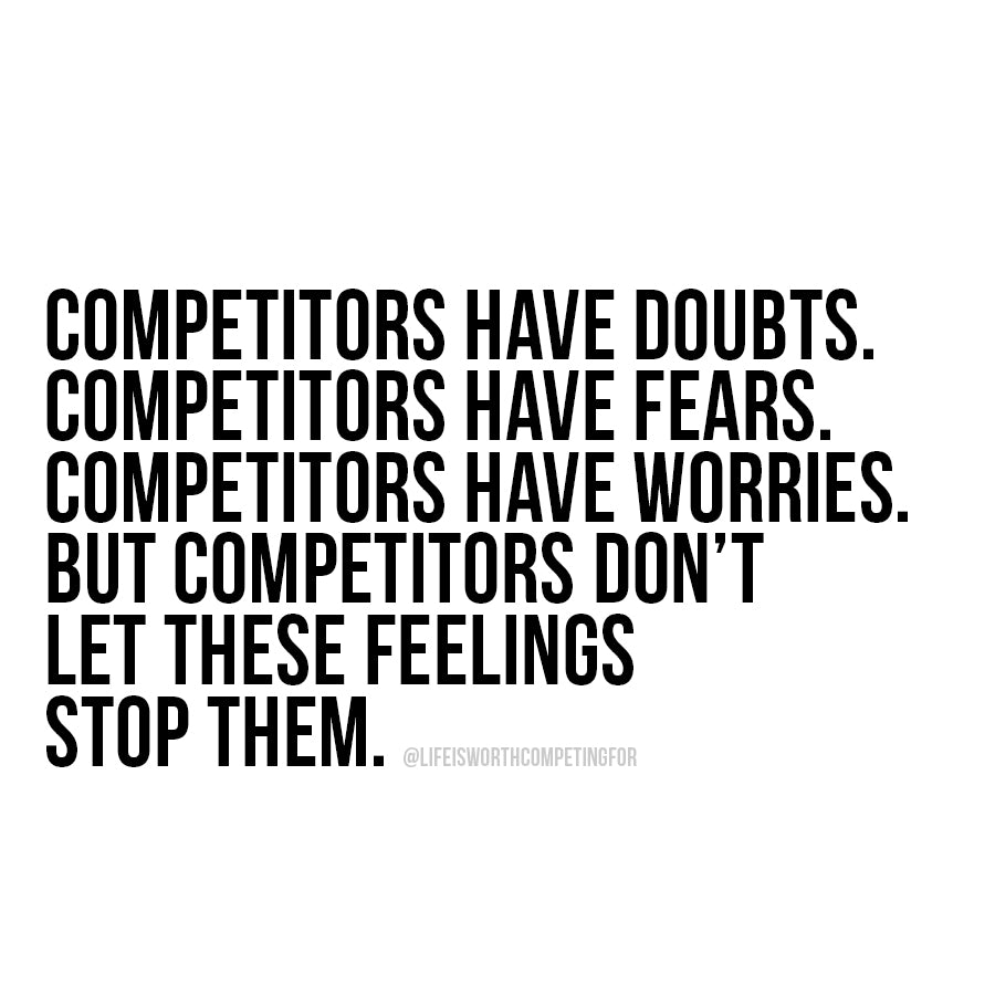 Competitors aren't stopped