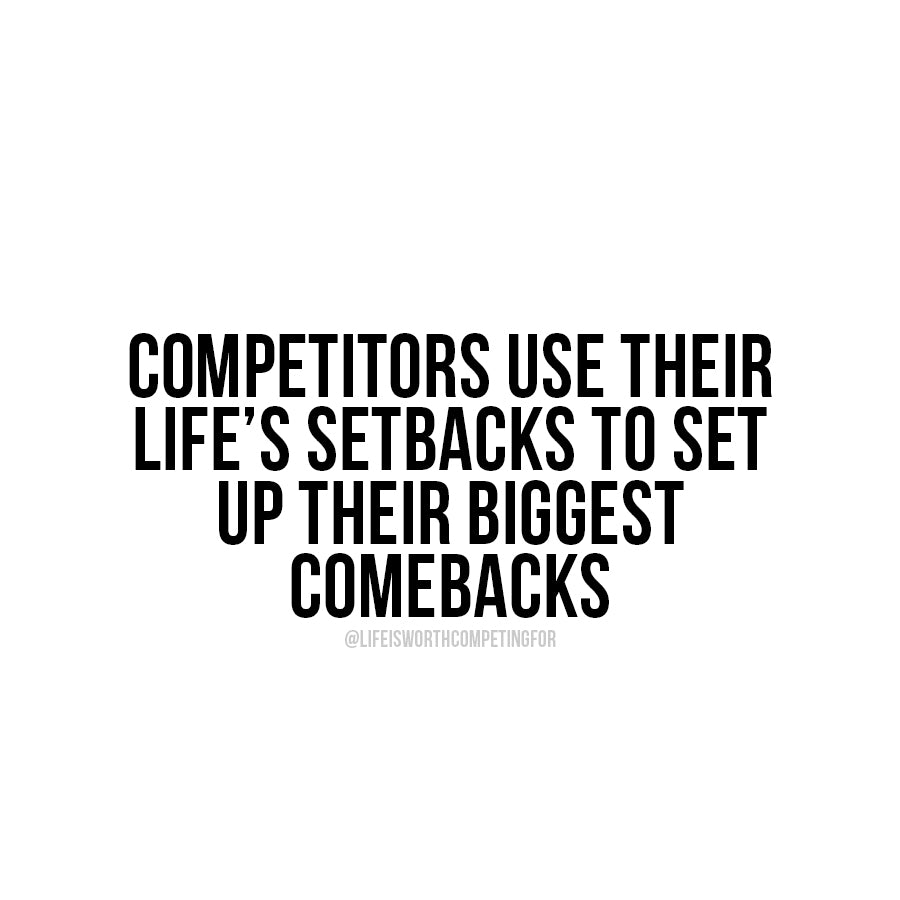 Competitors use setbacks to set up comebacks