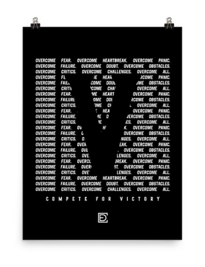 VICTORY Compete Every Day Poster
