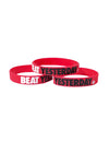 Beat Yesterday Youth Red wristbands