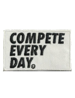 Compete Every Day white velcro patch