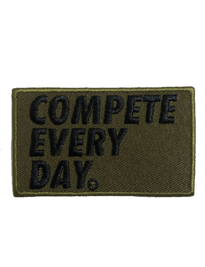 Compete Every Day military green velcro patch