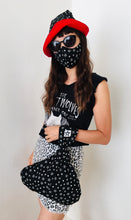 Load image into Gallery viewer, Witchy Stars 3 piece matching set - hat, mask, handbag