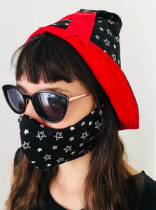 Witchy Stars 3 piece matching set - hat, mask, handbag