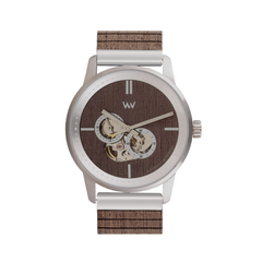 Foremast Silver Choco Wood Watch