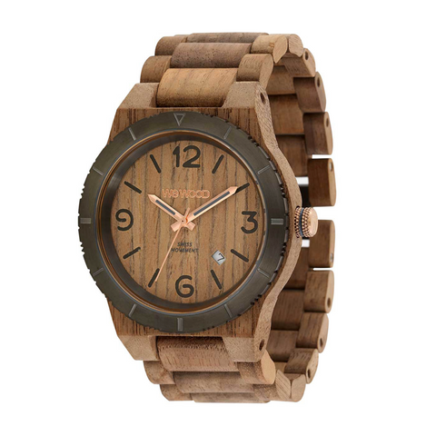 Alpha MB Nut Rough Gun Wood Watch