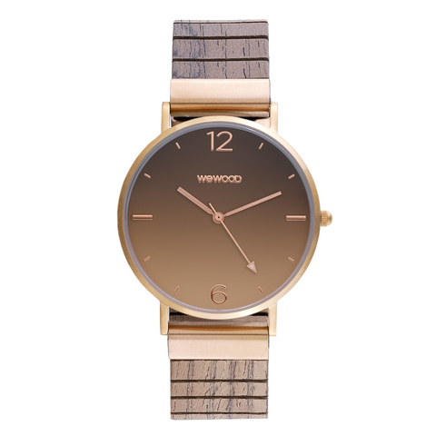 Aurora Degrade Wood Watch